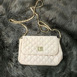 Asos pink quilted crossbody bag